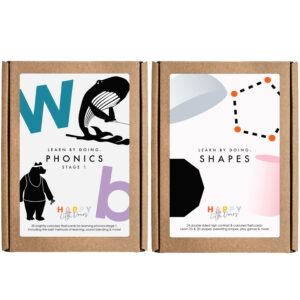 Phonics and Shapes Flashcards pack by Happy Little Doers